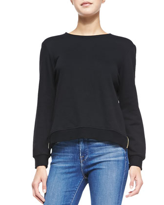 Zip-Back Le Sweatshirt