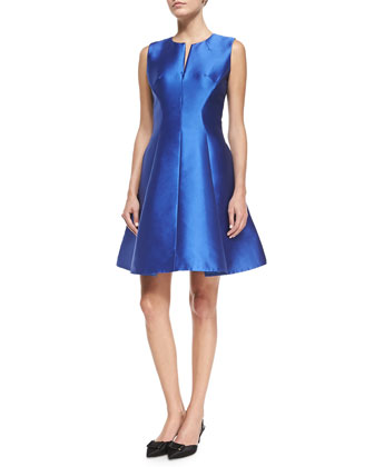 charleen sateen fit & flare dress