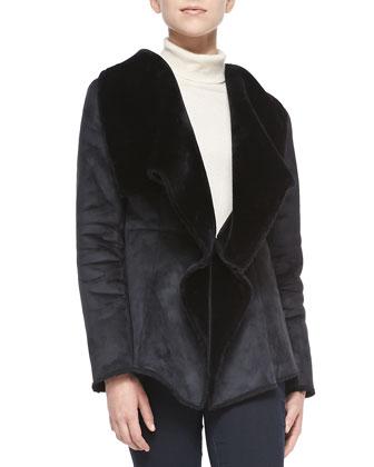 Faux-Suede Jacket W/ Sherpa Lining
