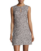 Yvette Tweed Sleeveless Dress