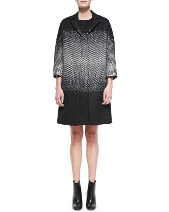 Long Printed Topper & Short-Sleeve Printed Dress