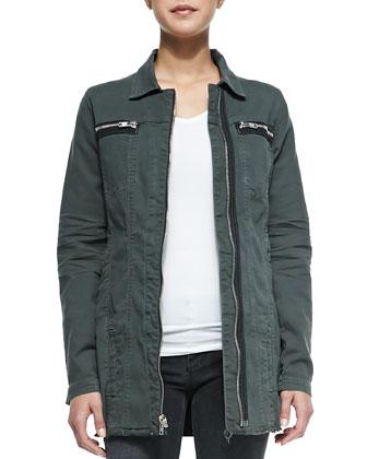 Army Jacket W/ Zip Chest Pockets