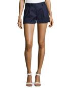 Naples Linen-Blend Shorts, Bright Ink