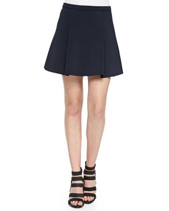 Toyah Cap-Sleeve Scuba Top & Rhodes Box-Pleated Mini Skirt