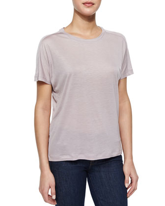 Tali Slub Knit T-Shirt, Haze