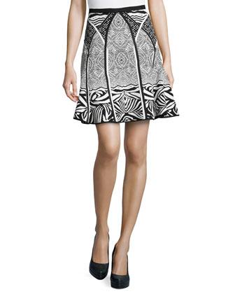 Samara Zebra Tattoo-Print Skirt