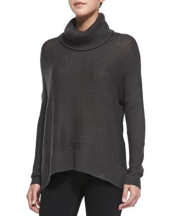 Oversized Ribbed Turtleneck Sweater
