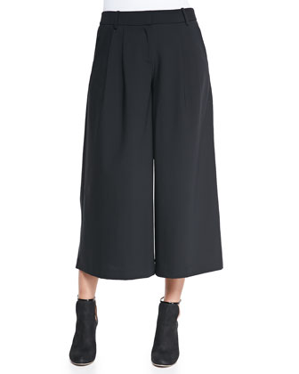 Edie Cropped Wide-Leg Pants