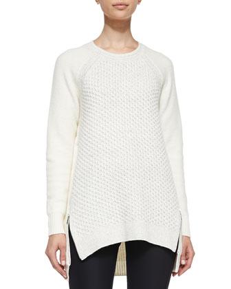 Zip-Hem Knit Pullover