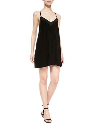 Tony V-Neck Velvet Dress