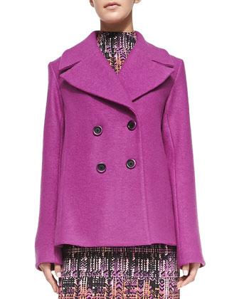 Boucle Pea Coat