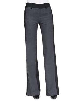 Two-Tone Woven Flannel Trousers
