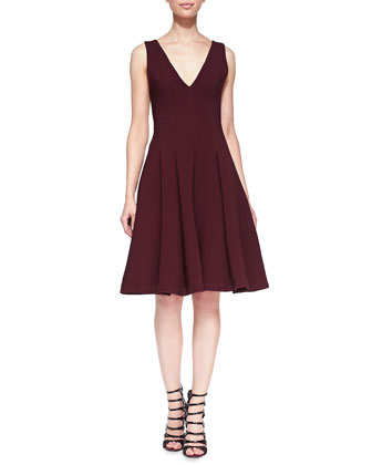 Stretch-Ottoman Sleeveless Dress