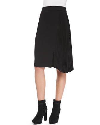 Side-Pleated Skirt