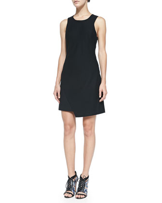 Juno Sleeveless Scissor-Hem Dress