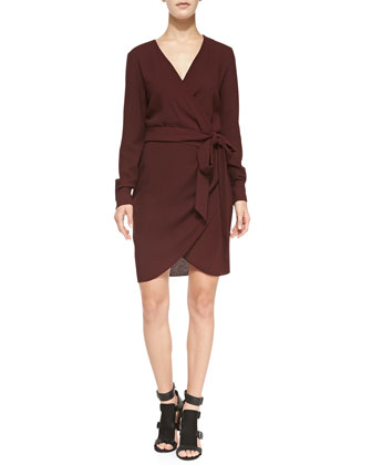 Henrick Tie-Waist Wrap Dress