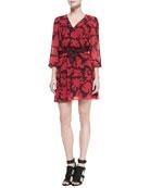 Renzi Floral-Print Tie-Waist Dress