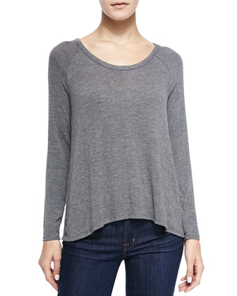 Hidalgo Scoop-Neck Loose Top