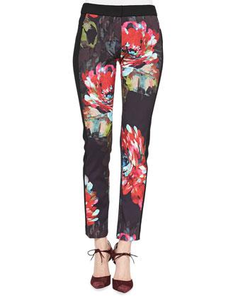 Frea Slim Floral-Print Pants