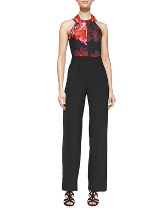 Atwood 2 Floral-Print Halter Jumpsuit
