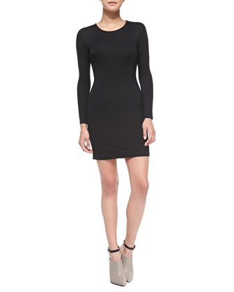 Jazmin Long-Sleeve Dress W/ Twisted Back