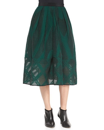 Full Tea-Length Arboretum Skirt