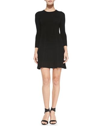 Jolia Wool/Cashmere Dress, Caviar