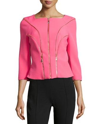 Zip-Trim Tailored Jacket