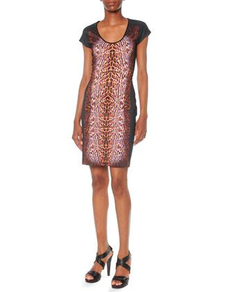 Leopard-Print Ponte Dress