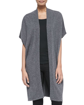 Cashmere Short-Sleeve Long Vest