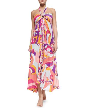 Printed Convertible Maxi Dress/Skirt