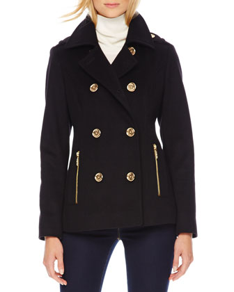 Wool/Cashmere Pea Coat