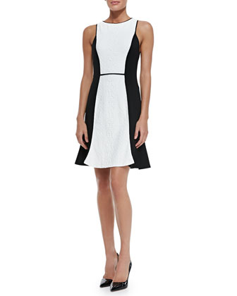 Clean Slate Sleeveless Contrast Dress