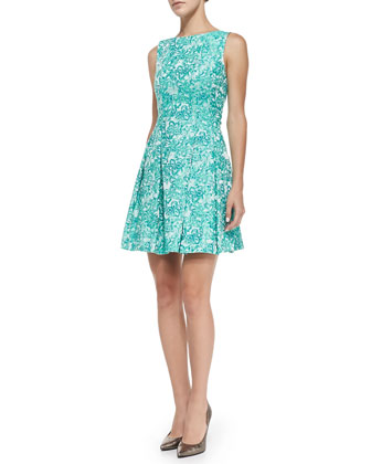 Amelie Floral-Print Low-Back Dress