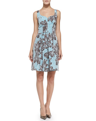 Brigitte Sleeveless Floral Cocktail Dress