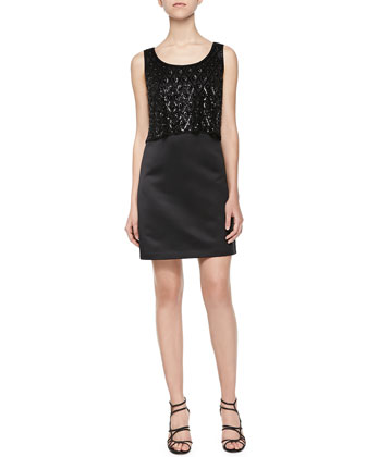 Sofia Sequined Layered Dress