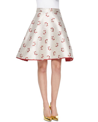 Candy Floral-Print A-Line Skirt