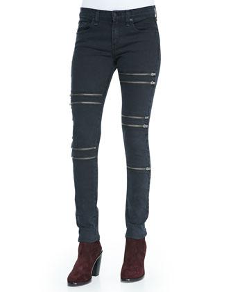Slim Boyfriend Tank & Ordaz Skinny Zipper Jeans