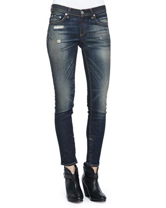 Skinny Zipper Capri Jeans, Mateos