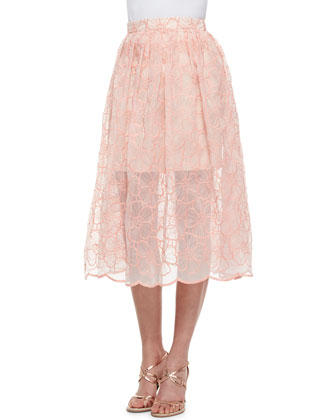 Pippy Embroidered Organza Top & Skirt