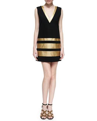 The Hornby Metallic-Stripe Dress