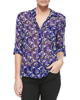 Lorelei Printed Silk Blouse