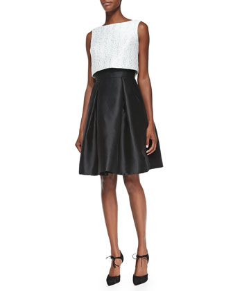 Sleeveless Party Dress W/ Popover Top