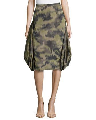 Brushstroke Parachute Skirt