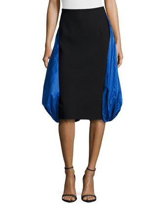 Boucle Parachute Skirt, Black