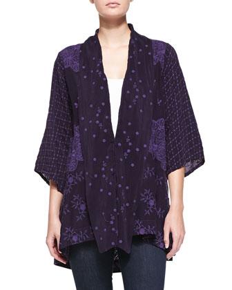 Lilly Kimono Embroidered Jacket, Women's