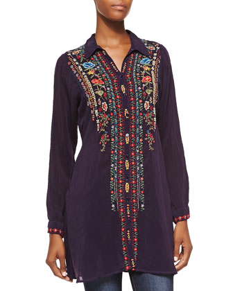 Eli Embroidered Long Tunic