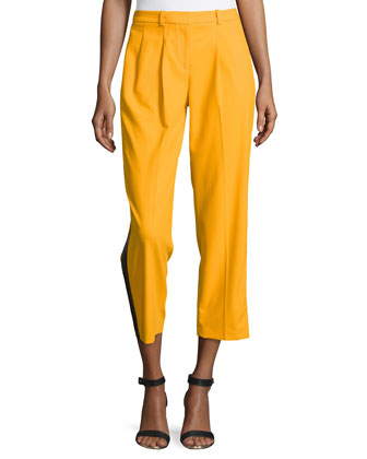 Wool Serge Tuxedo Track Pants, Taxicab
