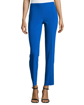 Wool-Blend Skinny Ankle Pants, Royal