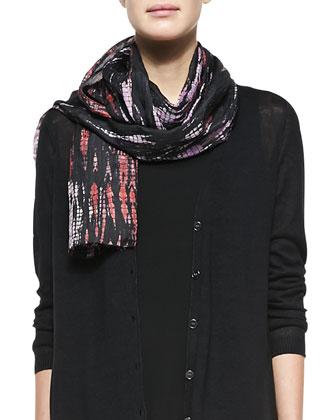 Lightweight Linen-Silk Combo Cardigan, Long Silk Jersey Tunic, Scarf & ...